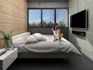 G._ALARQ + TAGA Arquitectos Small bedroom
