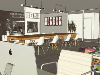 Sala de Criação e Administrativa: Espaços comerciais  por Danilo Segura Arquitetura,Moderno