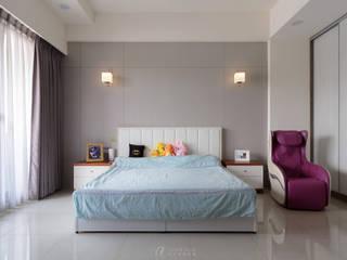 WU House‧鳥松透天:  臥室 by 元作空間設計