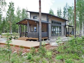 Xây dựng biệt thự mini tại TPHCM Nhà phong cách châu Á bởi TNHH xây dựng và thiết kế nội thất AN PHÚ CONs 0911.120.739 Châu Á