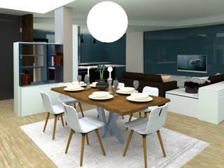 Lo spazio e la luce nel soggiorno Soggiorno moderno di LAURA MOSCHINI Moderno