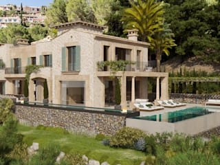 Proyecto con licencia para Construir en Camp de Mar Casas de estilo mediterráneo de Fincas Cassiopea Group / FCG Architects Mediterráneo