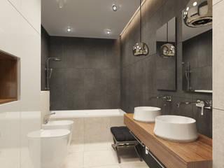Salle de bain industrielle par MLR Studio Industriel