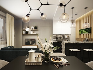 Salon minimaliste par MLR Studio Minimaliste