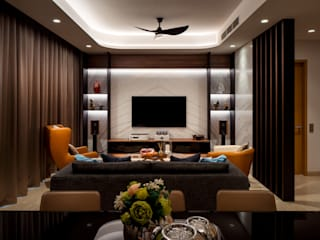 Bishopgate Residences:  Living room by Summerhaus D'zign,Modern