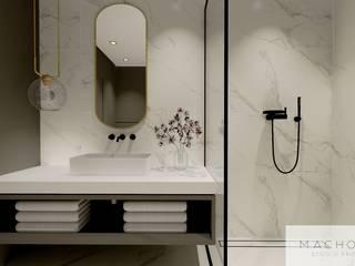 Elegancja w nowoczesnym wydaniu - łazienka Nowoczesna łazienka od Machowska Studio Projektowe Nowoczesny