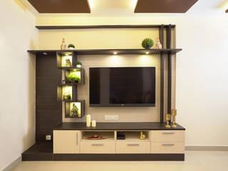 Entertainment Unit in Living Area Modern living room by HomeLane.com Modern