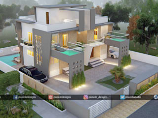 Modern Villa | Two-Story House Design by Panash Design Studio Modern