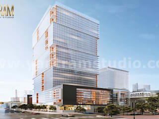 Impressive High-rise & latest Architecture Building of 3D exterior rendering services by Architectural Rendering Company by Yantram Architectural Animation Design Studio Corporation Classic