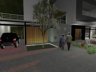 CASA CALDERÓN: Casas campestres de estilo  por Diseño Colectivo Grupo ,