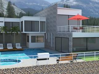 Casa B4: Casas campestres de estilo  por Diseño Colectivo Grupo ,