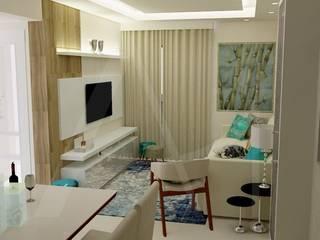Anny Maciel Interiores - Casa Cor de Riso Modern living room Blue