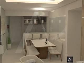Anny Maciel Interiores - Casa Cor de Riso Modern dining room Beige