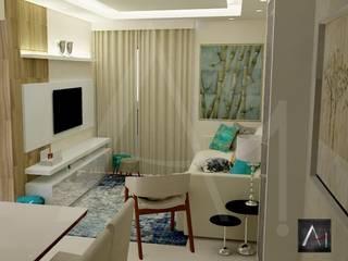 Anny Maciel Interiores - Casa Cor de Riso Modern living room Beige