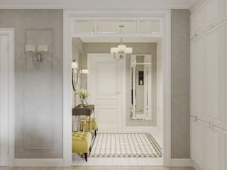 Classic style corridor, hallway and stairs by Вот и Дом Classic