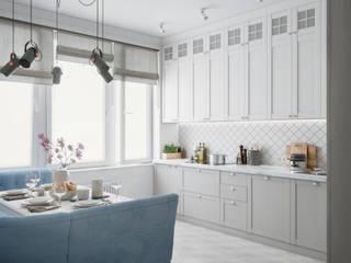 Французская Эклектика в ЖК Наследие Кухня в классическом стиле от Студия Дизайна Елены Сайфуллиной Классический