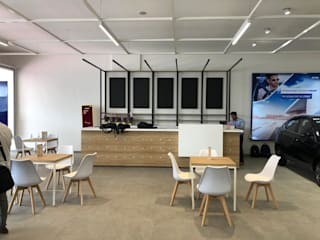 Tata Motors Showroom, Mumbai: modern  by Red Oak Furniture,Modern