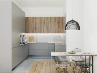 Cozinha _ Vila Nova de Famalicão: Armários de cozinha  por Fachada Arquitectos,Moderno