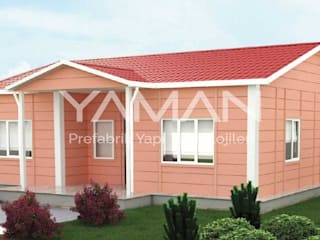 Prefabrik Ev (Yaman Prefabrik) – 96 m2 Prefabrik Ev:  tarz Prefabrik ev