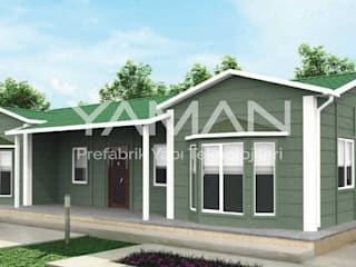 Prefabrik Ev (Yaman Prefabrik) Prefabricated home Iron/Steel Green