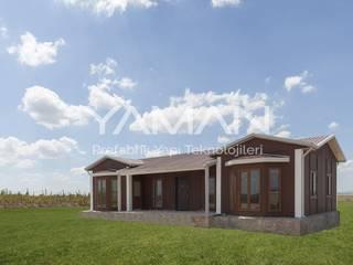 Prefabrik Ev (Yaman Prefabrik) – 106  m2 Prefabrik Ev:  tarz Müstakil ev