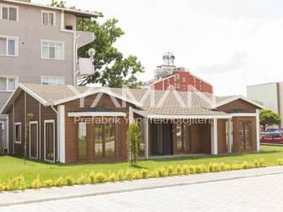 Prefabrik Ev (Yaman Prefabrik) – 106  m2 Prefabrik Ev:  tarz Ahşap ev