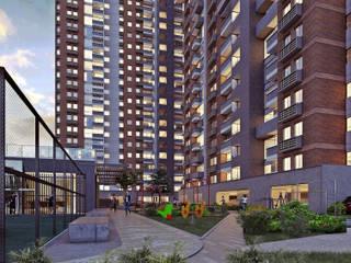 Mir Estudio - Arquitectura y Visualización 3D Modern style balcony, porch & terrace