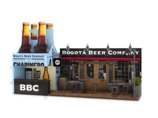 Propuesta de Diseño de stand para Bogota beer company.:  de estilo  por Magrev - Diseño y construcción de espacios.,