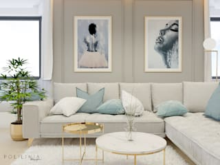 Salon de style  par Polilinia Design, Moderne