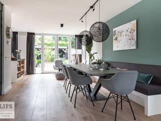 Sfeervolle 2 onder 1 kap Heiloo Moderne eetkamers van Lifs interieuradvies & styling Modern