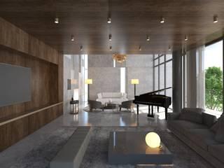 Yıldırım Villa Modern Oturma Odası Robus Mimarlık Mühendislik Modern