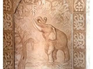 """Декоративное панно из """"композита"""" с полками под коллекцию фигур. от Скульптор"""