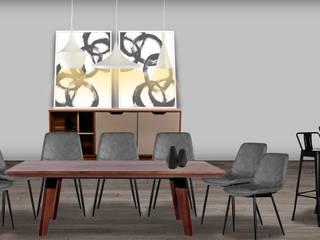 Decoración de interiores, proyecto familiar de moblum Comedores modernos de moblum Moderno