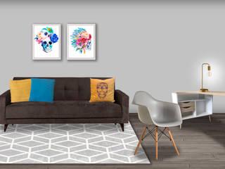 Decoración de interiores, proyecto familiar de moblum Salones modernos de moblum Moderno