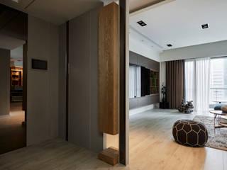 耀昀創意設計有限公司/Alfonso Ideas Scandinavian corridor, hallway & stairs