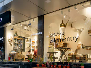 Ellementry retail store , Bangalore flamingo architects Modern offices & stores Ceramic White