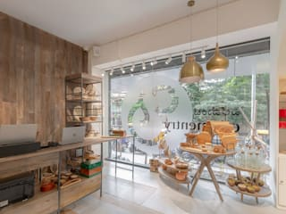 Ellementry retail store , Bangalore flamingo architects Modern offices & stores
