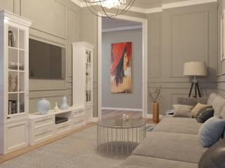 Ruang Keluarga oleh DESIGN GRUA, Klasik