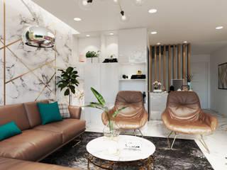Asian style living room by Công ty TNHH sửa chữa nhà phố trọn gói An Phú 0911.120.739 Asian
