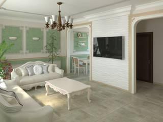 Дизайн частный дом Гостиная в классическом стиле от ООО Филин Арт Классический