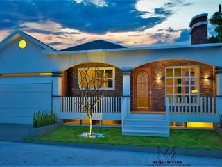 C A S A JA VI: Casas pequeñas de estilo  por Mixture Arquitectos, Moderno