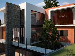 CASA 2 PUENTES: Casas de campo de estilo  por Mixture Arquitectos, Moderno