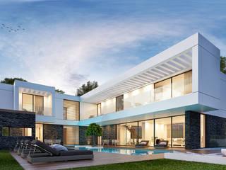 CASA GC1- Moradia em Oeiras - Projeto de Arquitetura: Moradias  por Traçado Regulador. Lda,Moderno