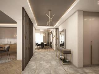 İncek Daire Projesi Modern Koridor, Hol & Merdivenler Lego İç Mimarlık & İnşaat Dekorasyon Modern