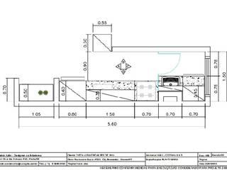 COZINHA PLANEJADA - PROJETO EM PLANTA BAIXA:   por Nainá Julio  - Designer de Interiores,Moderno