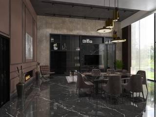 Decorvita mimarlık Modern dining room Black