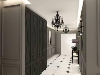 Decorvita mimarlık Modern corridor, hallway & stairs Grey