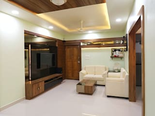 Bharati Greens Modern living room by Indoor Concepts Modern