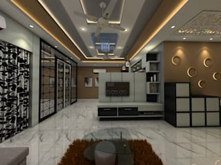 kandivali 3bhk, ibis link road Modern living room by Clickhomz Modern