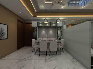 kandivali 3bhk, ibis link road Modern dining room by Clickhomz Modern